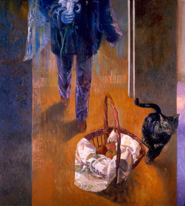 Dall'annunciazione di Lorenzo Lotto - 1987 - olio su tela cm.90x100