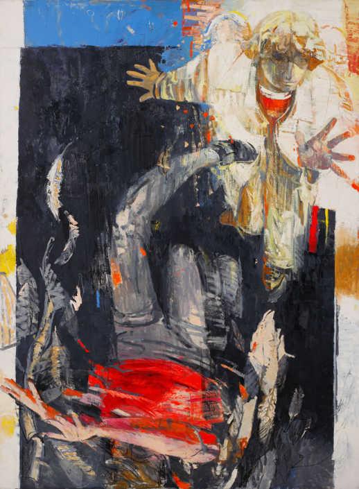 La caduta dell'angelo ribelle - 1999 - olio su tela cm.110x150