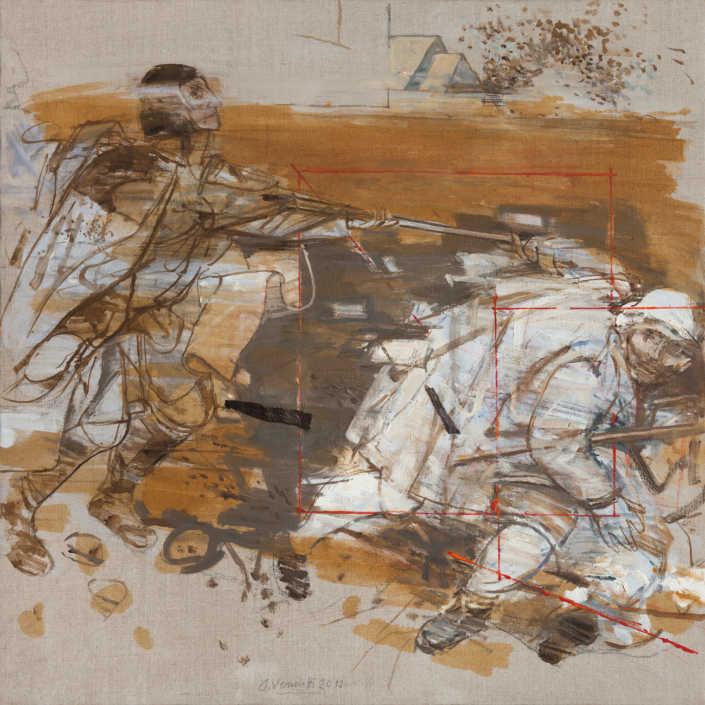 Da Bruegel n°1 2012 - olio su tela cm.80x80