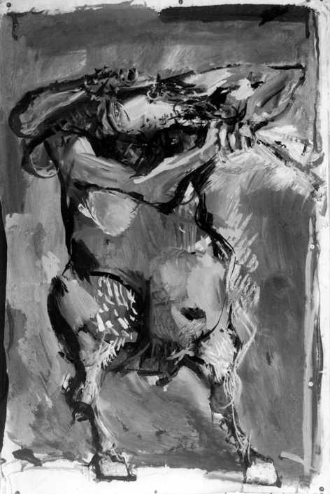 Fauno - 1963 tempera su carta cm.100x150