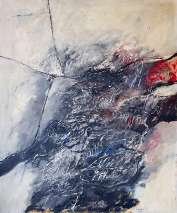 Guerriero spaziale - 1964 olio su tela cm.100x120
