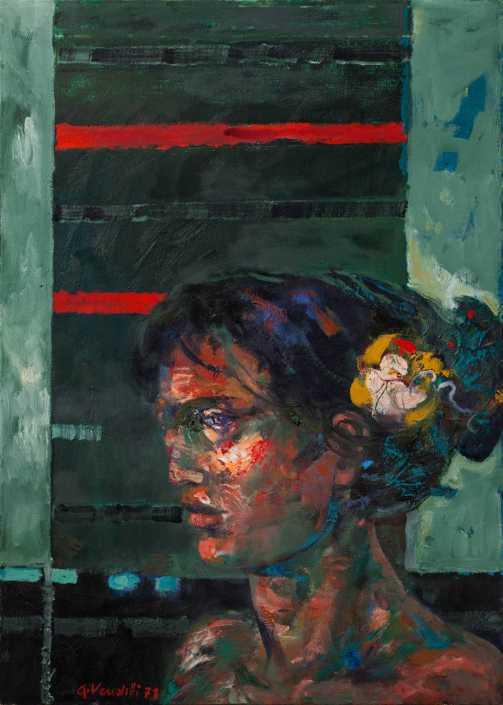Odalisca - 1971 olio su tela cm.50x70