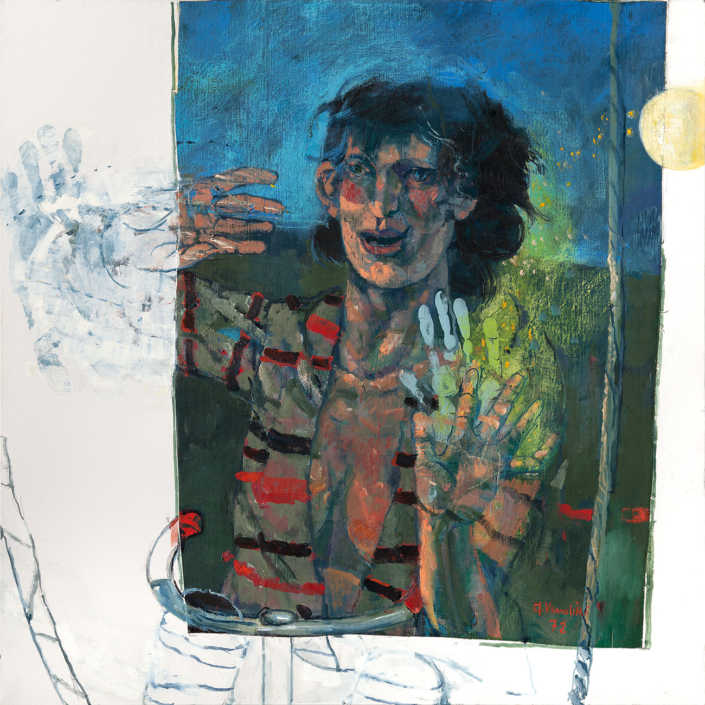 Acrobata - 1972 olio su tela cm.80x80