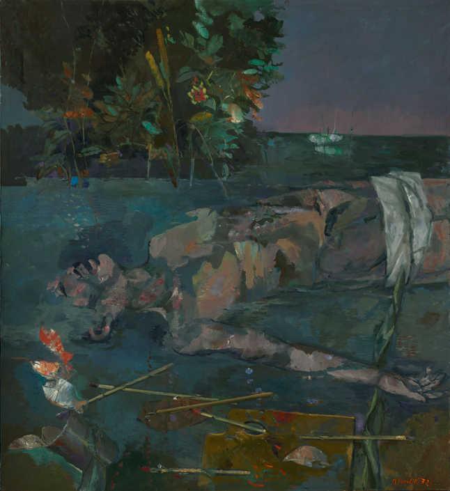 L'annegato - 1972 olio su tela cm.110x120