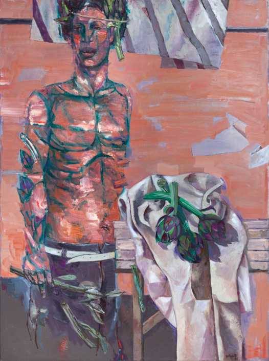 Il venditore di carciofi - 1973 olio su tela cm.97x130