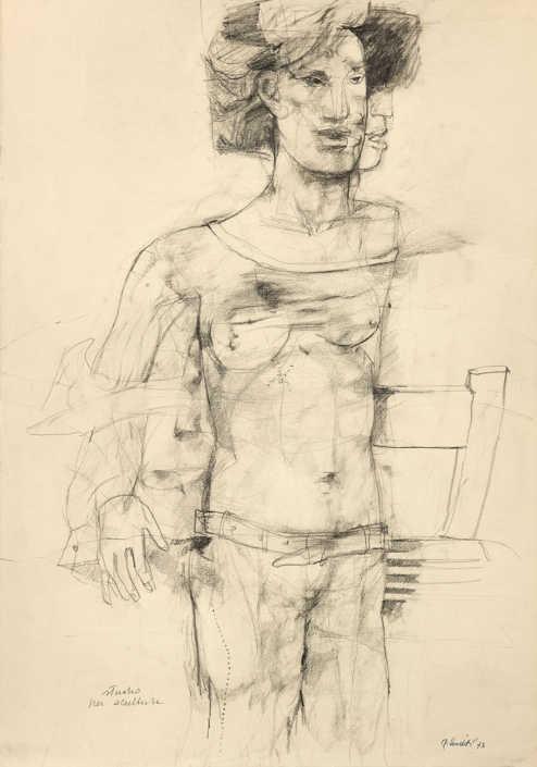 Studio per scultura - 1973 matita su carta cm.50x70