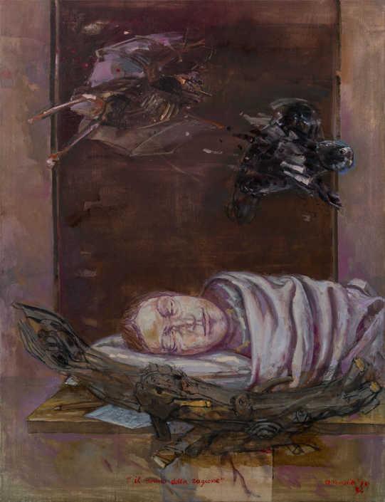 Il sonno della ragione - 1974-1979 olio su tela cm.89x116