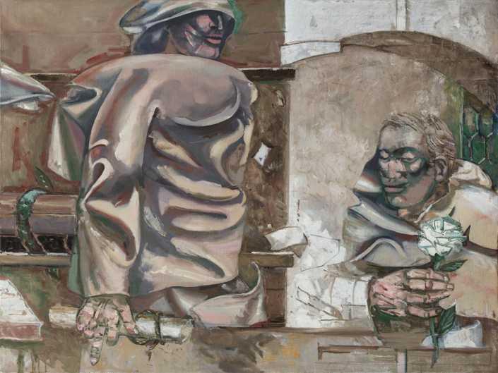 Il guardiano dei libri - 1974-1984 olio su tela cm.120x90