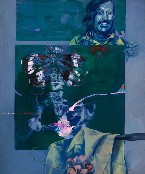 Radiografia di un artista - 1975 olio su tela cm.100x120