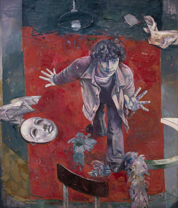 Giovane attore sul tappeto rosso - 1977 olio su tela cm.120x140