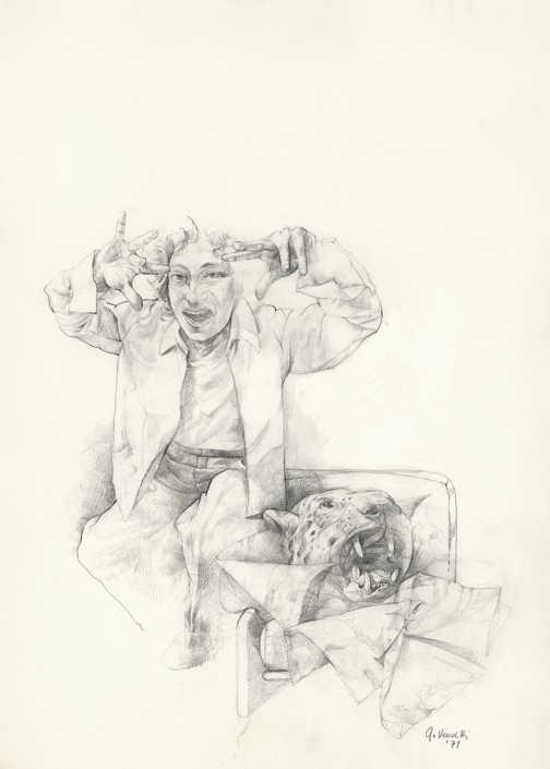 Il selvaggio - 1979 matita su carta cm.50x70