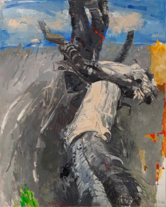 Studio per albero combusto - 1993 olio su tela cm.80x100