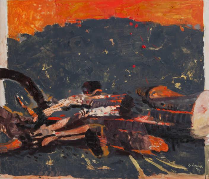 Albero combusto - 1994 olio su tela cm.70x60