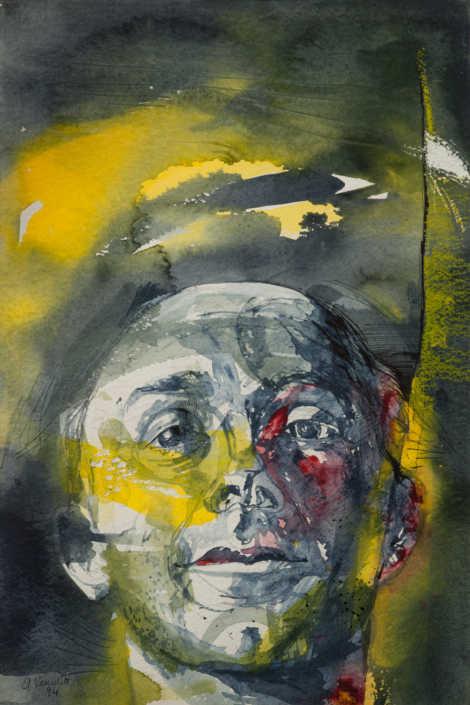 Testa - 1995 acquarello cm.38x57