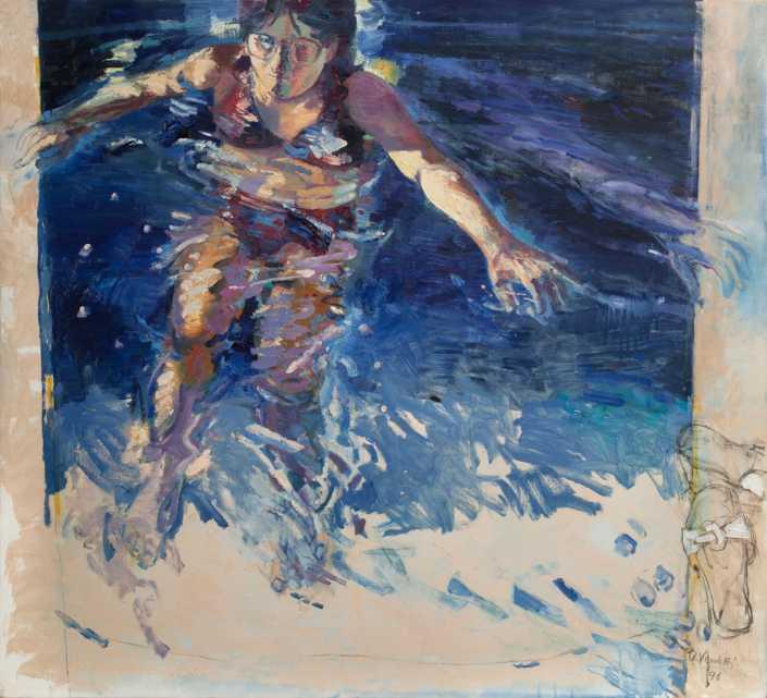 In piscina - 1996 olio su tela cm.110x100