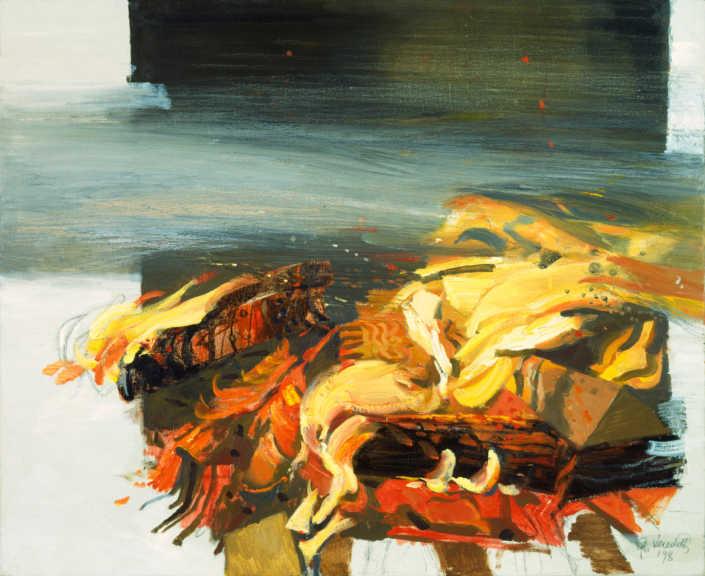 Il vento e il fuoco - 1998 olio su tela cm.70x60