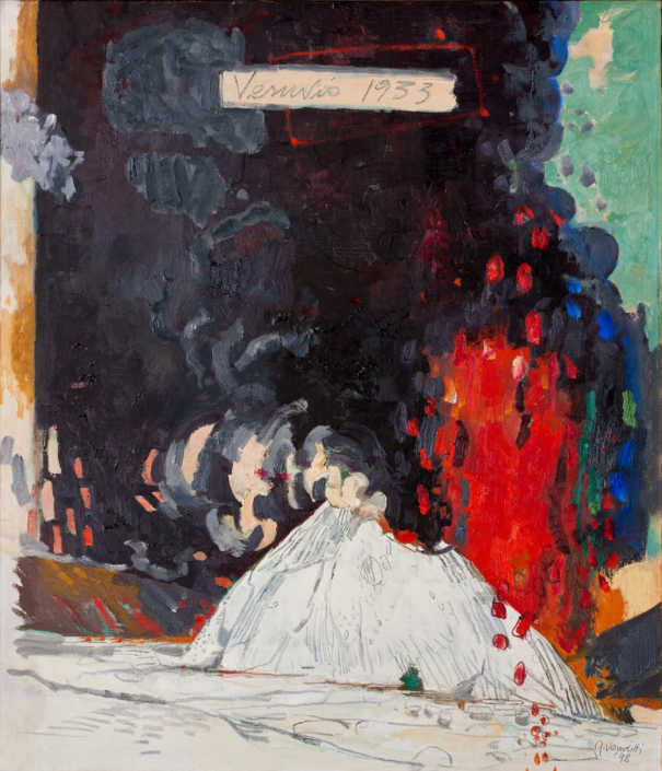 Vesuvio 1933 - 1998 olio su tela cm.60x70