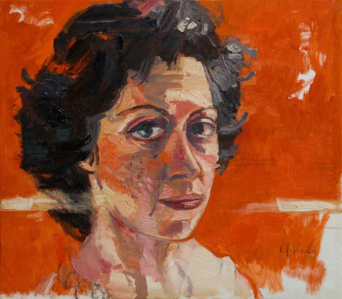 Ritratto di Lina - 2000 olio su tela cm.47x41