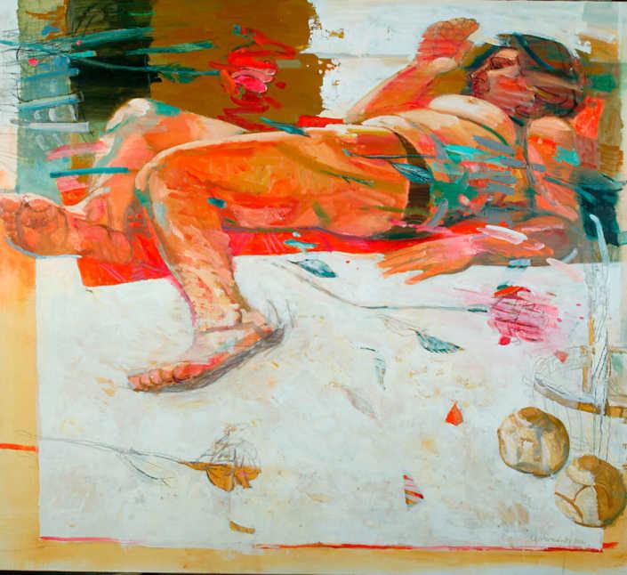 Brezza di primavera - 2001 olio su tela cm.100x90