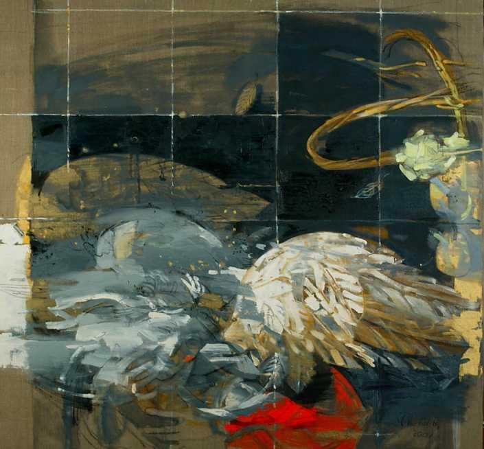 L'angelo - 2001 olio su tela cm.100x95