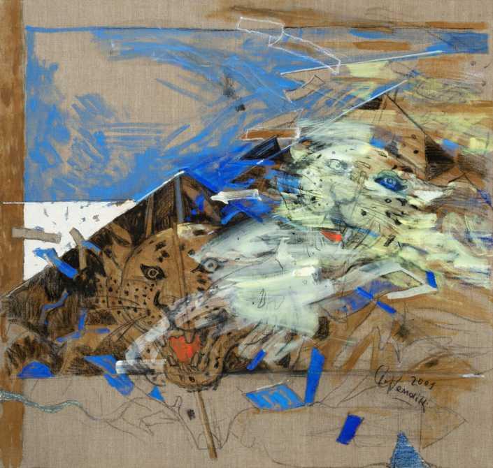 L'aquilone con la tigre - 2001 olio su tela cm.100x95