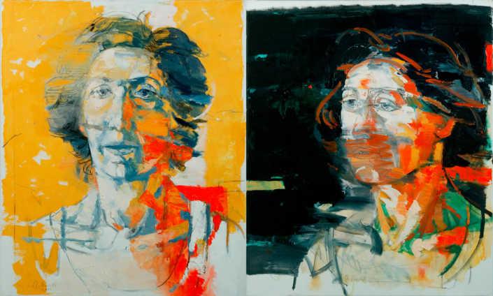 Lina (dittico) - 2001 olio su tela cm.120x100
