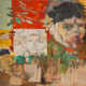 Omaggio a Van Gogh - 2002-2009 olio su tela e collage cm.100x90