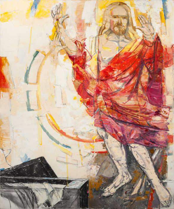 Da Grunewald - Cristo risorto 2003 - olio su tela cm.100x120