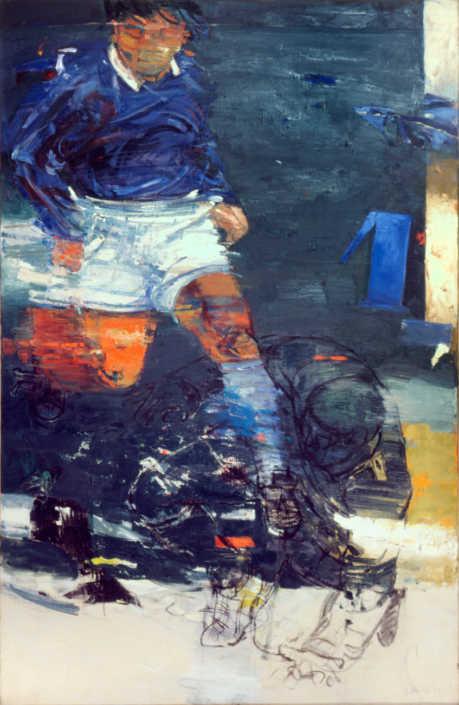 Il calciatore - 2003 olio su tela