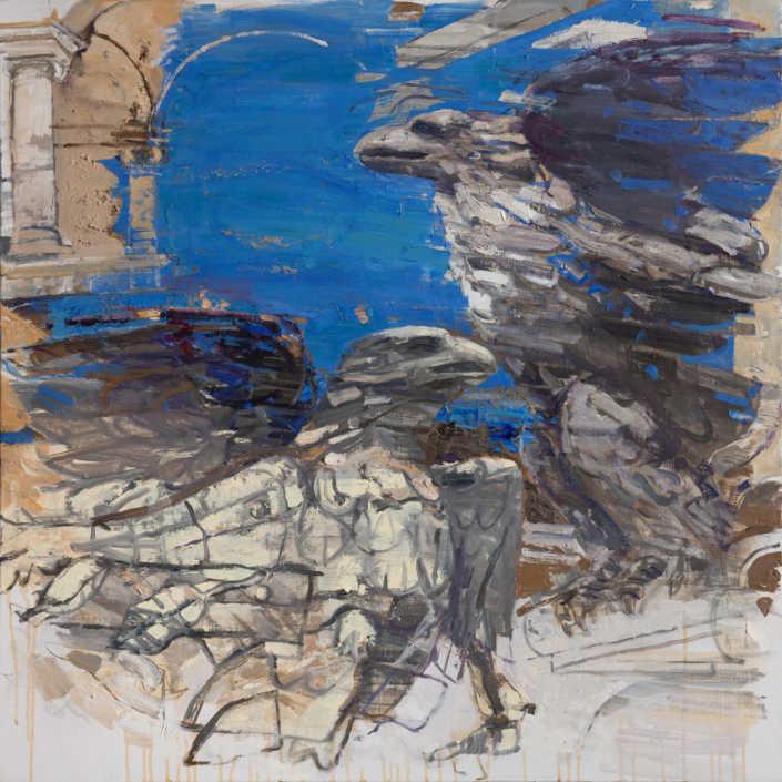 L'aquila del Canova n°4 - 2012 olio su tela cm.80x80