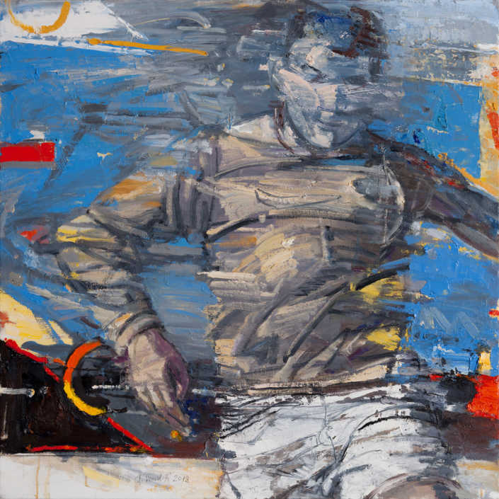 Maratoneta - 2012 olio su tela cm.80x80