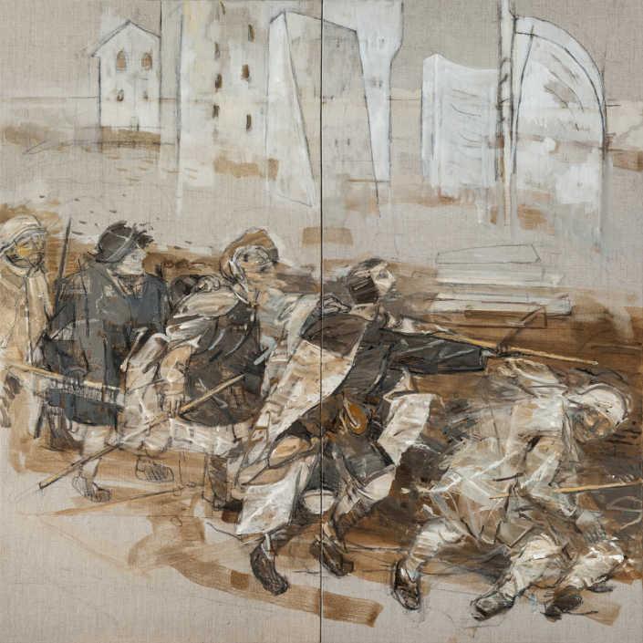 da Bruegel n°3 - 2014 olio su tela cm.100x100