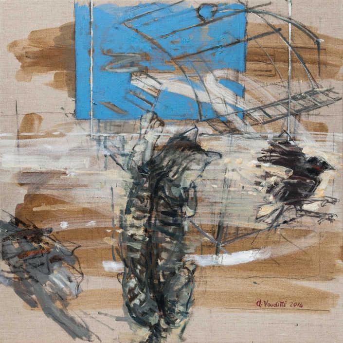 Fuga - 2014 olio su tela cm.60x60