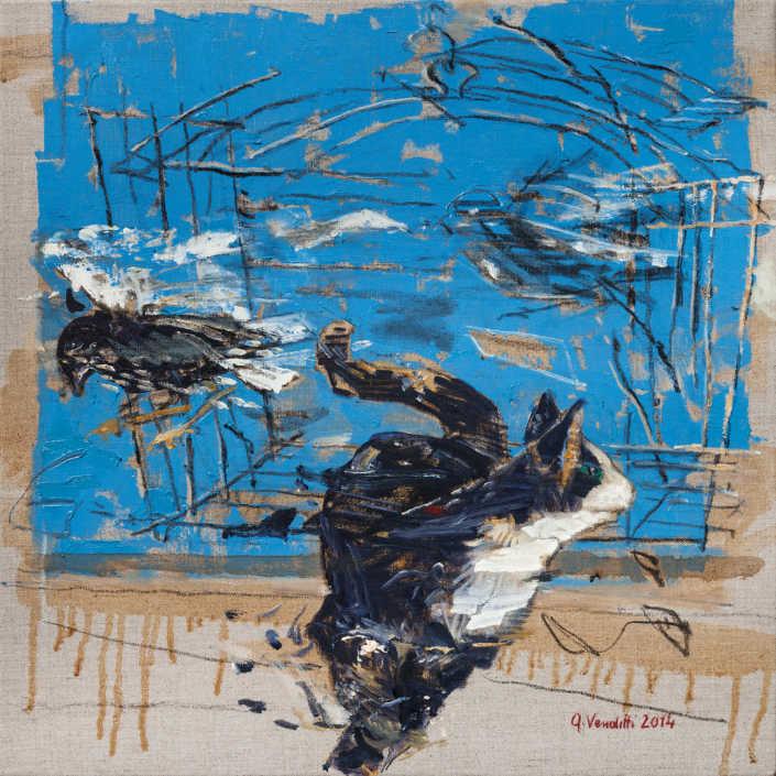 Inseguimento - 2014 olio su tela cm.50x50